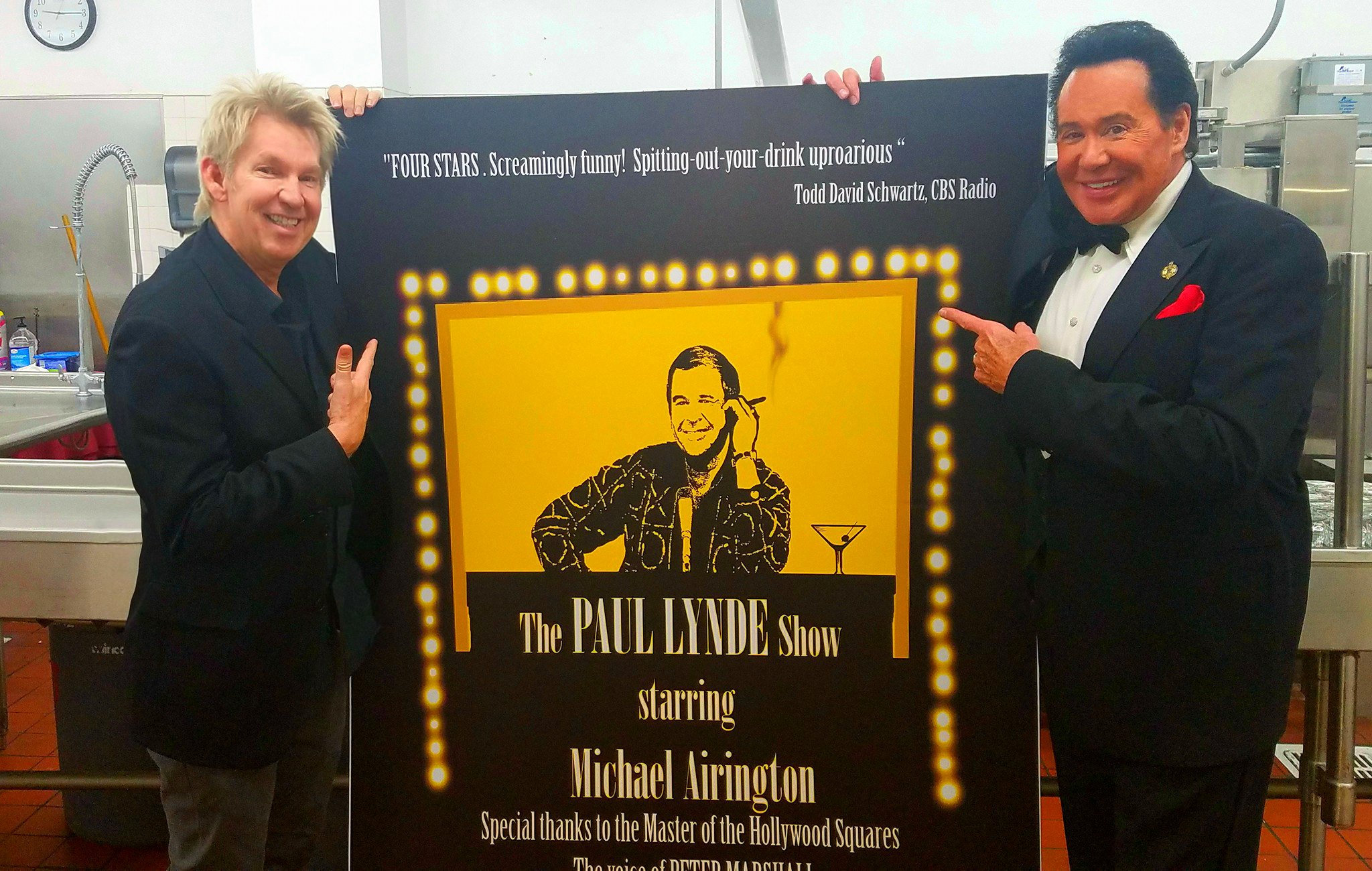 Michael with Wayne Newton!
